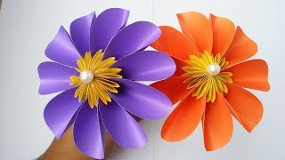 DIY: Paper Flower!!! How to Make Beautiful Flower With Colour Paper!!!