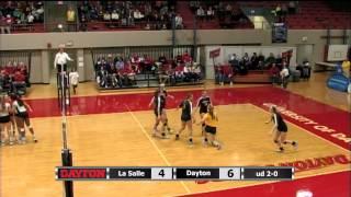 Volleyball Highlights - Dayton 3, La Salle 0