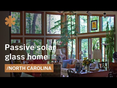 Passive solar glass home: feng shui in North Carolina