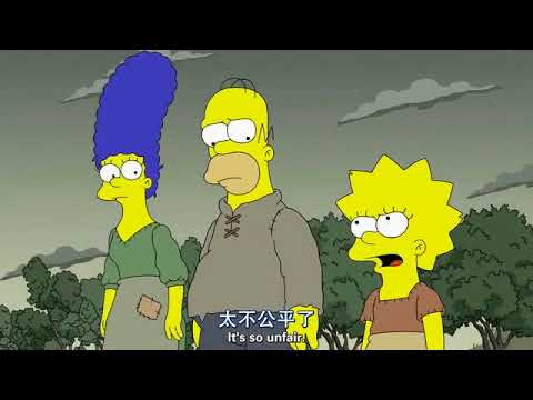 simpsons S29 EP1  with both english & chinese subtitle 辛普森 第二十九季 第一集 中文字幕1/5