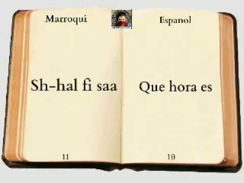Aprender arabe .Marroqui