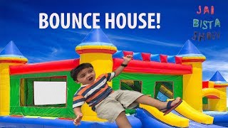 Inflatable Outdoor Playground bounce house! Monkeys Jumping on the Bed Family Fun Games for Kids
