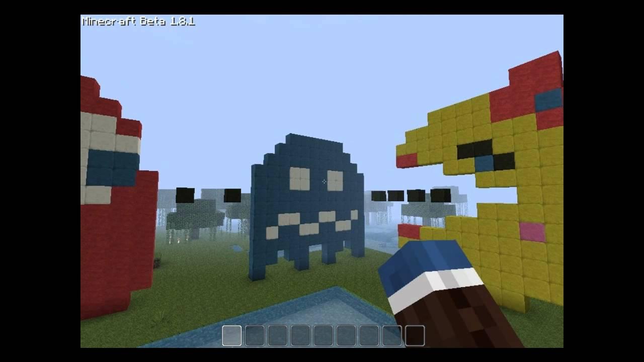 Pacman Pixel Art Minecraft Minecraft Pixel Art mr Mrs