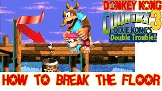 Donkey Kong Country 3 How to break the floor with Kiddy