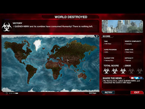 Plague Inc. Evolved Gameplay #8 Necroa Virus en Normal: Zombie!!! FR