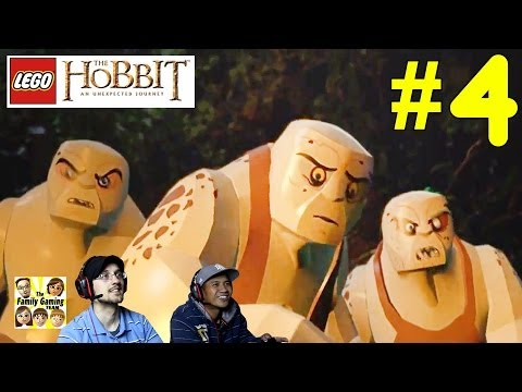 Lets Play Lego Hobbit: Roast Mutton! 3 Giant Trolls Get Beat Up! Part 4 - Co-Op Commentary