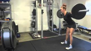 Get Glutes demo: barbell good morning