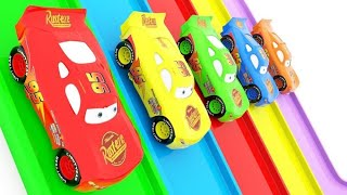 Learn Colors with Disney Cars Mcqueen Change Stone Wheels Educational Videos for Kids for Children