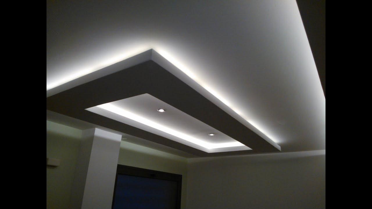 Iluminacion led rgb falsos techos e iluminacion escondida oculta indirecta youtube Lamparas de techo hechas en casa