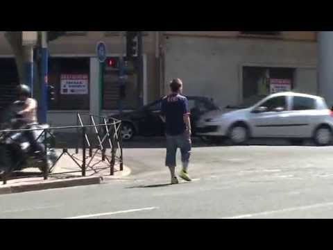 Remi Gaillard - the most accurate football player
