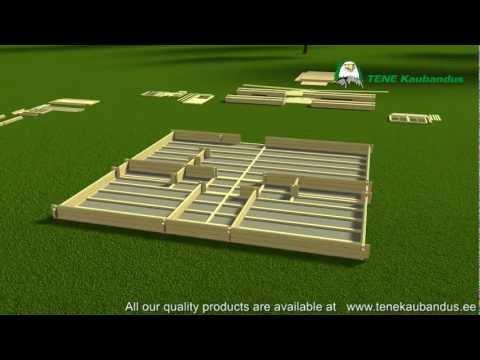 Proceso montaje de una casa de madera Grupotene (Tene Kaubandus)