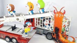 Đồ chơi Doremon - con rết khổng lồ bắt cóc nhóm bạn mèo máy