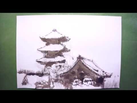 Видео как нарисовать пагоду