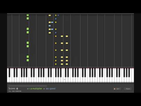 Twilight Princess Hyrule Field Music on Synthesia
