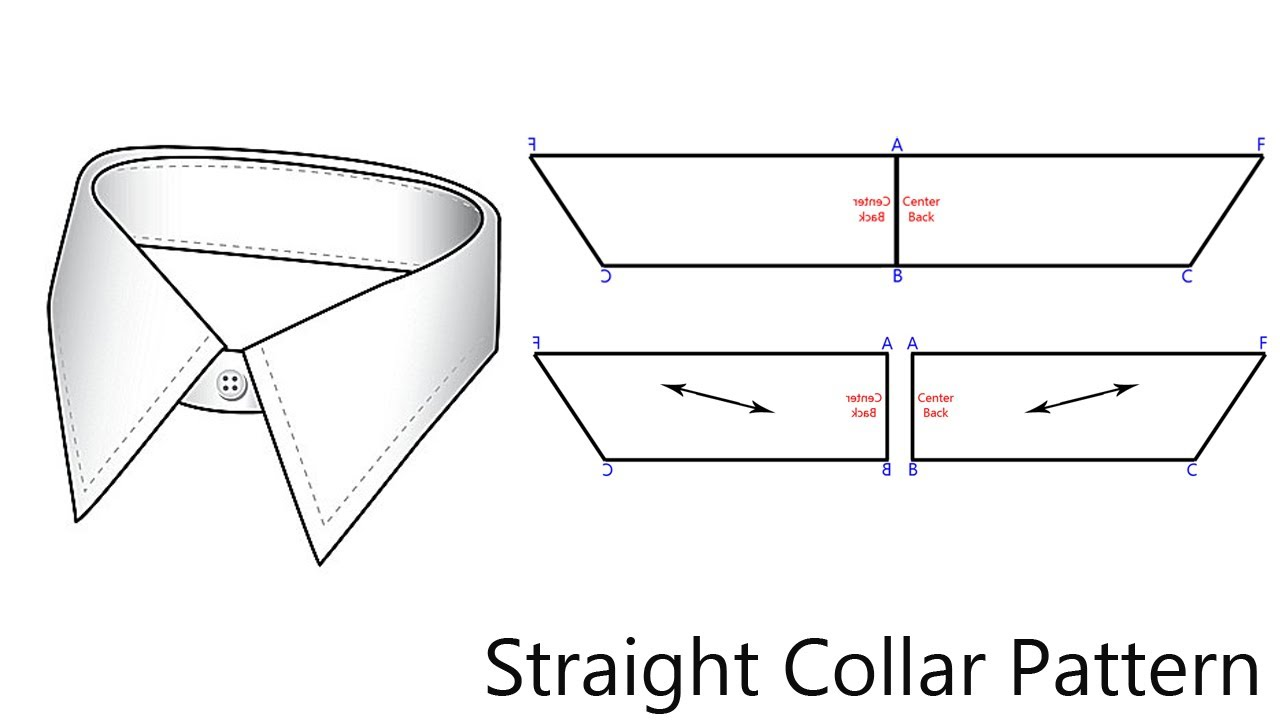 How To Pattern A Straight Collar - YouTube