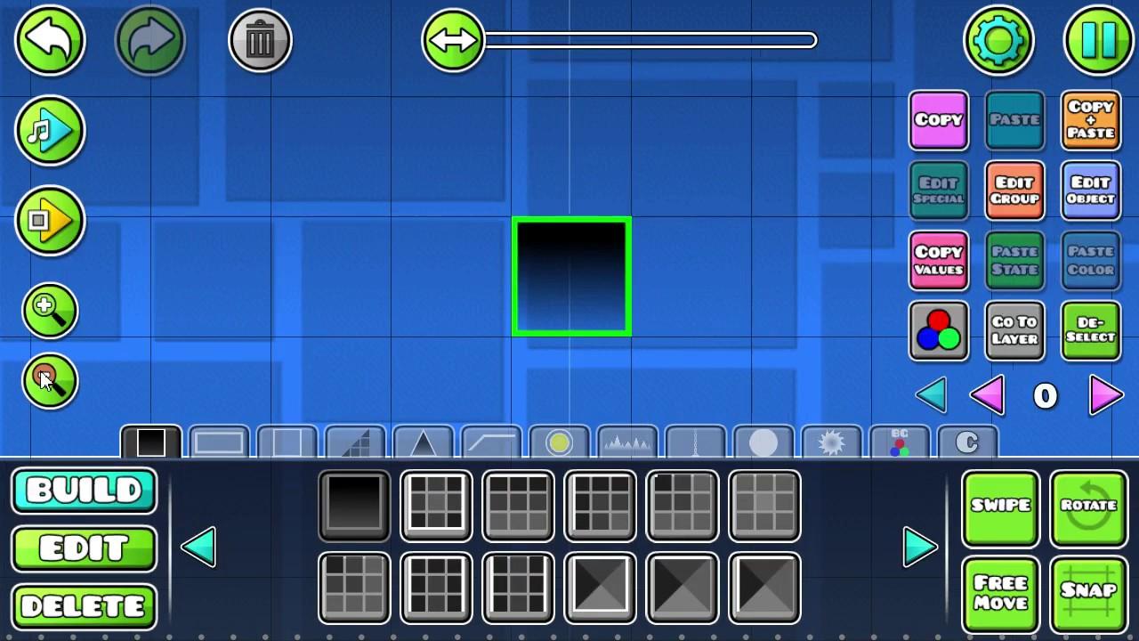 Геометрия даш как сделать чтобы блоки двигались