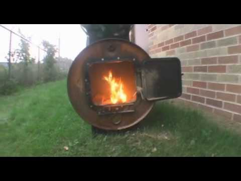 Testing out the Barrel Stove