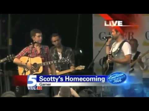 Scotty McCreery's Homecoming w/ Josh Turner - Top 3 - American Idol 2011 - Garner, NC