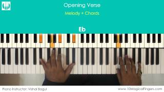 Main Hoon Hero Tera Piano / Keyboard Tutorial with Notation Sheet | www.10MagicalFingers.com