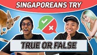 Singaporeans Try: True Or False Challenge