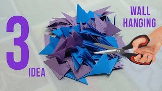 3 Paper Craft Idea for Home Decoration   DIY Wall Hanging Idea Out of Paper