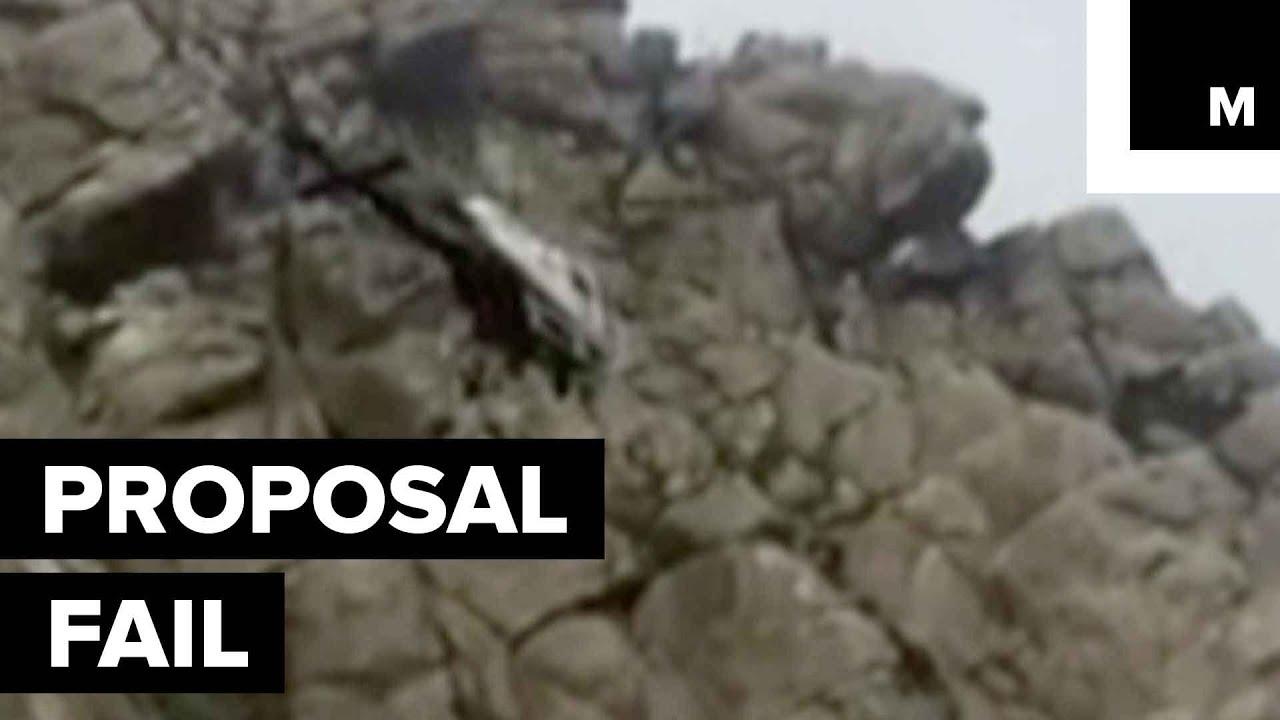 Hegyen kérte meg barátnője kezét, helikopterrel kellett megmenteni - videó