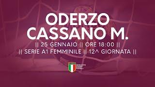 Serie A1F [12^]: Oderzo - Cassano Magnago 30-30