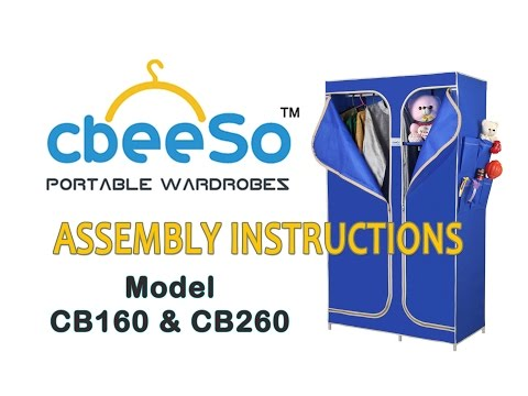 CbeeSo™ Portable Wardrobe - Assembly Instructions of Model CB260 & CB160