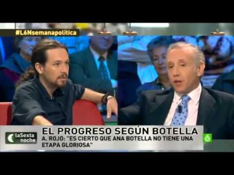 Pablo Iglesias ridiculiza a Eduardo Inda y El Mundo TV.