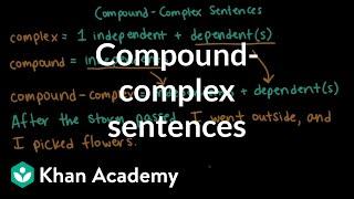 Compound-complex sentences | Syntax | Khan Academy