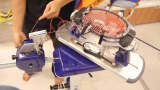 Cách đan vợt cầu lông Apacs Ziggler 15 ký = 33 lbs