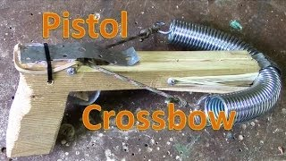 How To Make A Pistol Crossbow , blue prints , tutorial