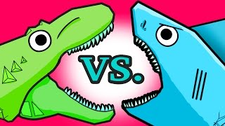 """My Cute Shark Attack Cartoon #15 (Shark Machine vs. Dino Plane!! +BEST OF!!) kids cartoons!"