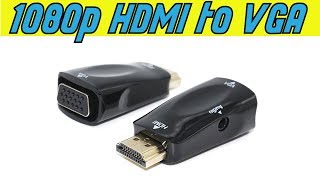 HDMI to VGA Adapter Converter Unboxing & Review - أنبوكسينغ ومراجعة