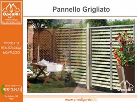 Arredi garden pat pannelli griglie frangivento arredo esterno e da giardino youtube - Griglie da esterno ...