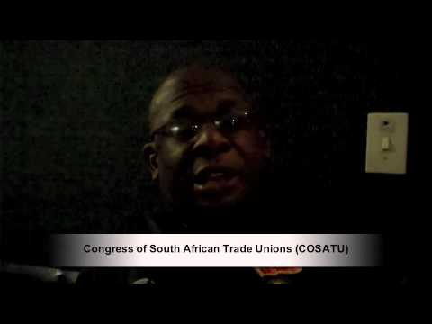 Voices from COP17 - Congress of South African Trade Unions (COSATU)