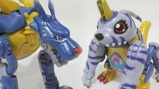 [Quick]DeEvolution-MetalGarurumon to Gabumon-Bandai Figure(メタルガルルモン退化ガブモン)