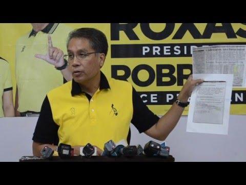 Roxas proves existence of Duterte's BPI account
