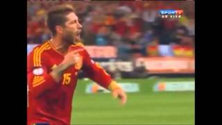 Spain France 1 1 - French radio RTL comments (Qualifications World Cup 2014)