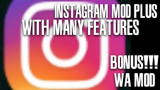 Review Instagram MOD and WhatsApp MOD - 2017/2018
