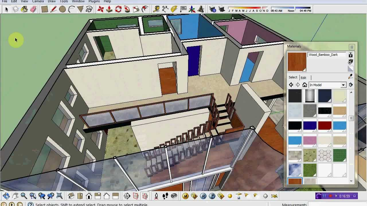 Time Lapse Sketchup House Design Minimalist Speed Art