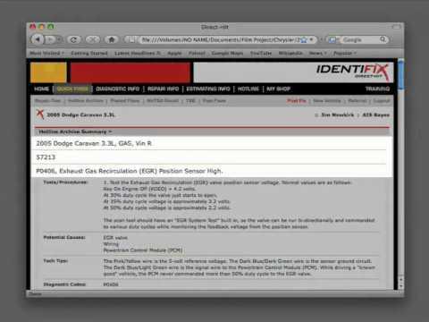 Identifix: Dodge Caravan - Check Engine Light and P0406