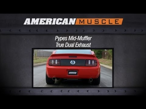 2005-2010 Mustang Pypes Exhaust Sound Clip Mid-Muffler True Dual (V6) Review
