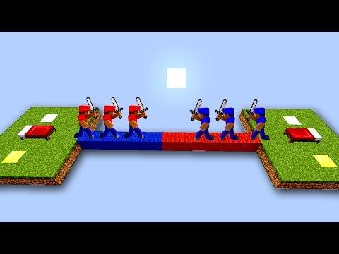 ПРОТИВОСТОЯНИЕ ДВУХ КОМАНД НА БЕД ВАРСЕ! - (Minecraft Bed Wars)