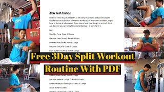 Free 3 Day Workout Routine With PDF Day 1