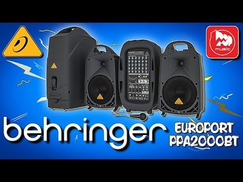 BEHRINGER EUROPORT PPA2000BT -  мощный звукоусилительный комплект