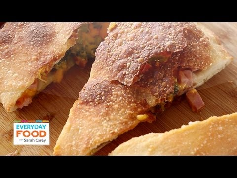 Broccoli-Ham Calzone | Everyday Food with Sarah Carey - YouTube