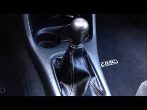Installed Aftermarket Skunk2 Shift Knob & Boot in Honda Civic Si