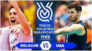BELGIUM vs USA | Highlights Men | Volleyball Olympic Qualification 2019 (HD)