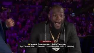 Deontay Wilder and Ray Mancini react to Manny Pacquiao's win over Keith Thurman (PBC ON FOX)